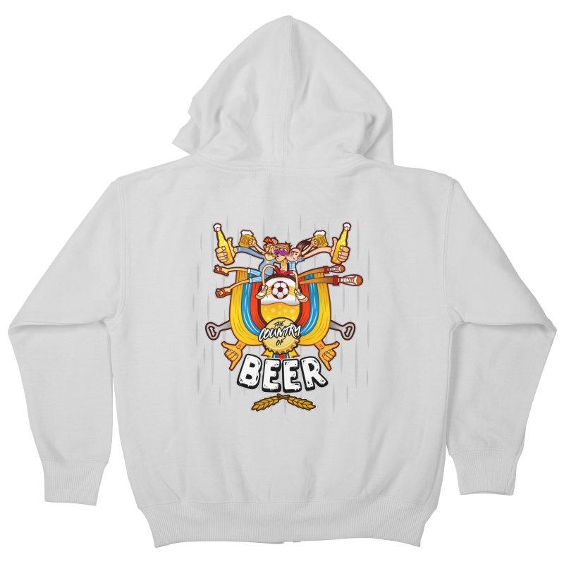 The Country of Beer! Kids Zip-Up Hoody by creativosindueno's Artist Shop