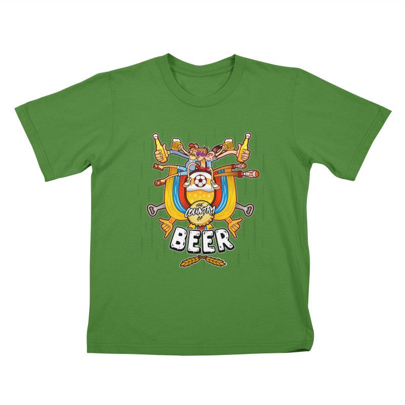 The Country of Beer! Kids T-Shirt by creativosindueno's Artist Shop