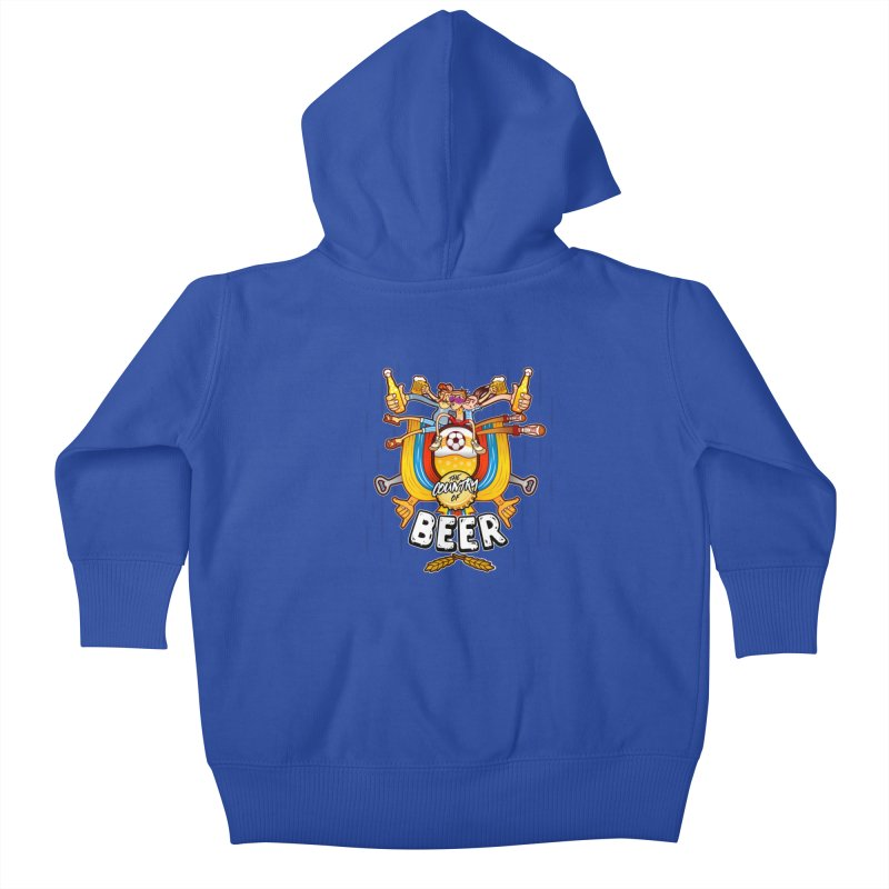 The Country of Beer! Kids Baby Zip-Up Hoody by creativosindueno's Artist Shop
