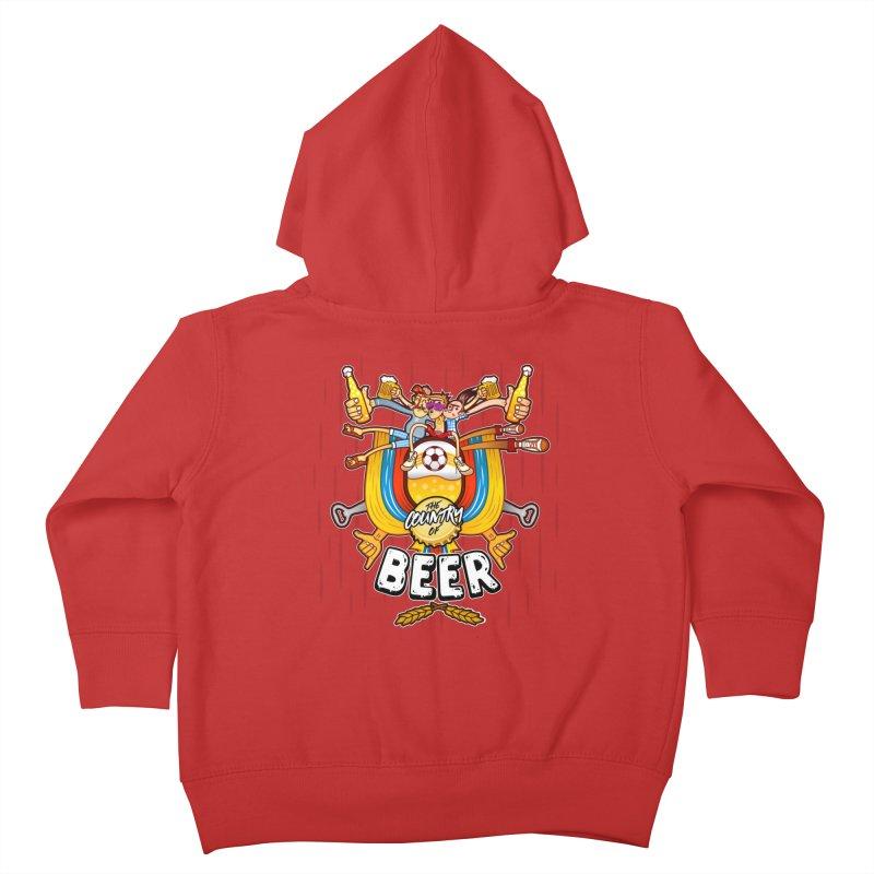 The Country of Beer! Kids Toddler Zip-Up Hoody by creativosindueno's Artist Shop