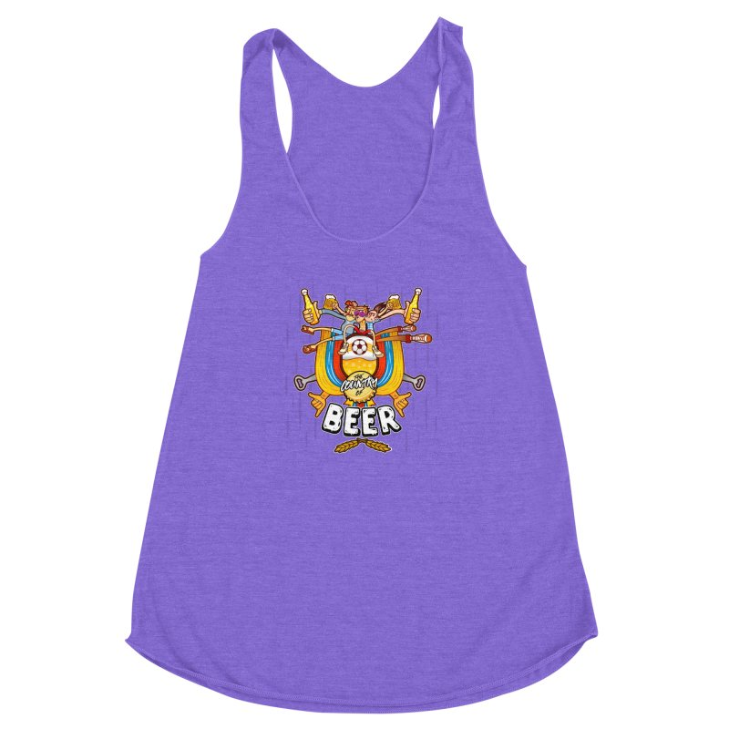The Country of Beer! Women's Racerback Triblend Tank by creativosindueno's Artist Shop