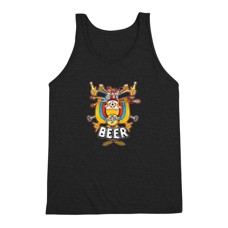 The Country of Beer! Men's Triblend Tank by creativosindueno's Artist Shop