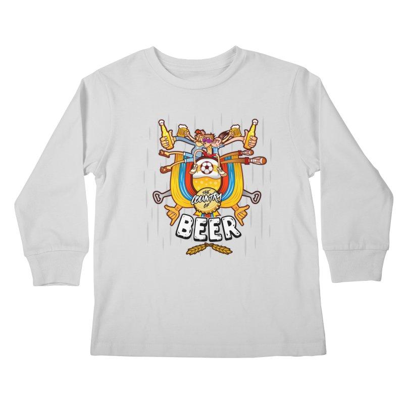 The Country of Beer! Kids Longsleeve T-Shirt by creativosindueno's Artist Shop