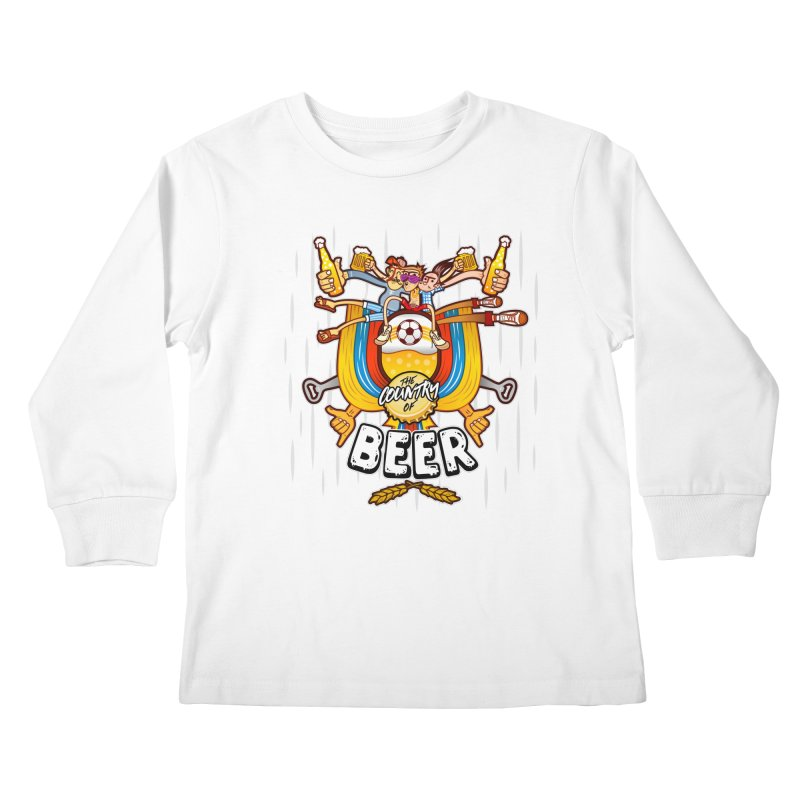 The Country of Beer! Kids Longsleeve T-Shirt by creativosindueno's Artist Shop