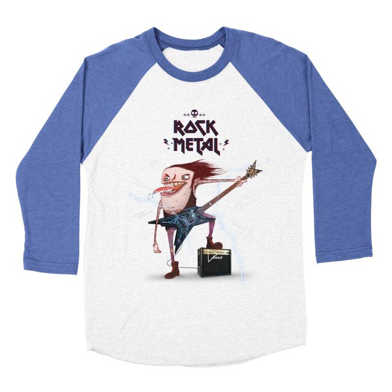 RockMetal! Women's Baseball Triblend T-Shirt by creativosindueno's Artist Shop