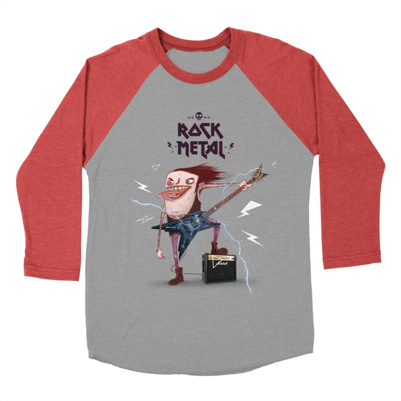 RockMetal! Men's Baseball Triblend T-Shirt by creativosindueno's Artist Shop
