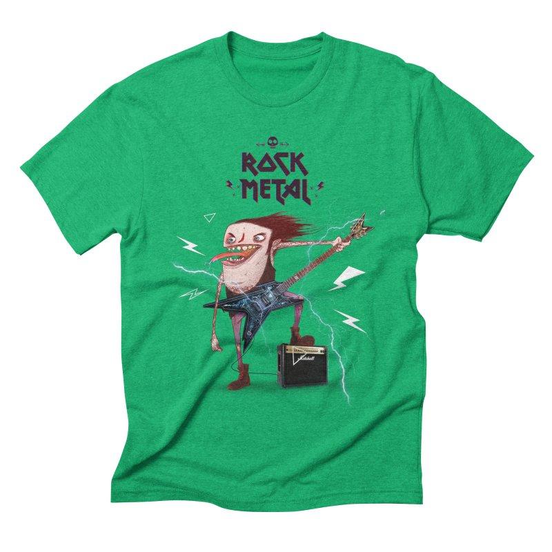 RockMetal! Men's Triblend T-shirt by creativosindueno's Artist Shop