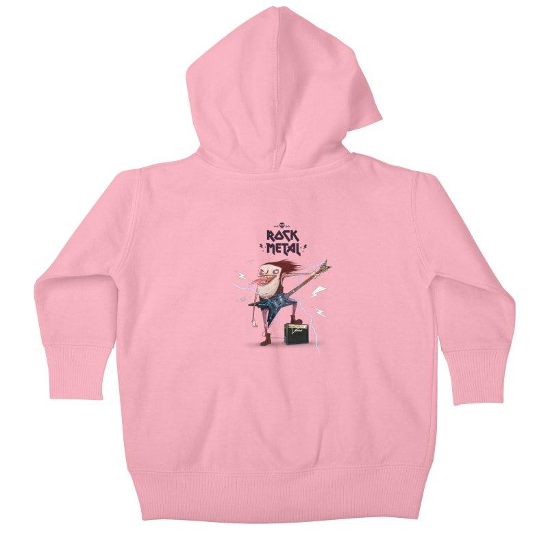 RockMetal! Kids Baby Zip-Up Hoody by creativosindueno's Artist Shop
