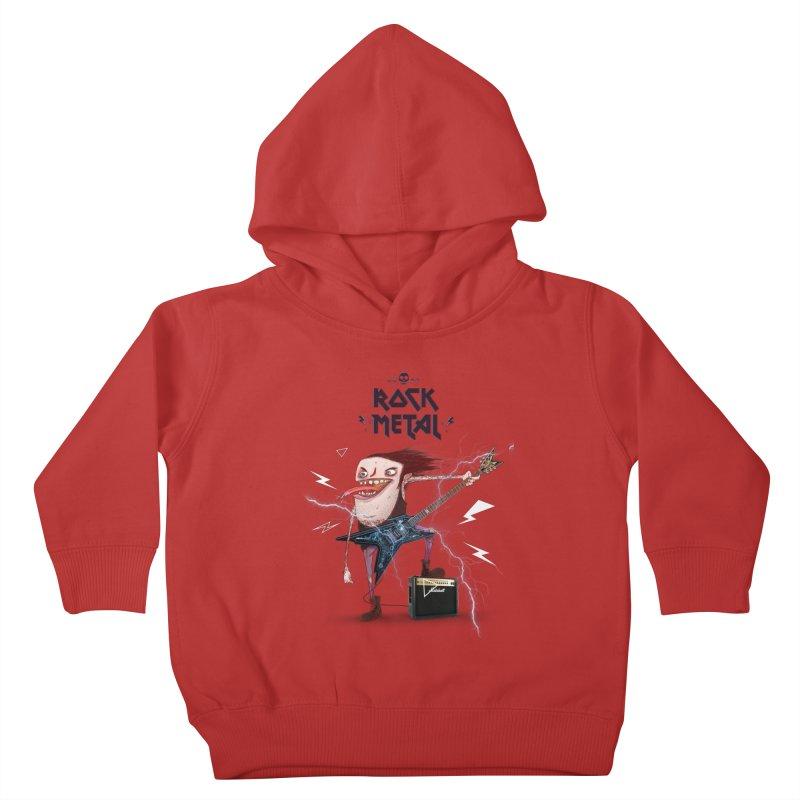 RockMetal! Kids Toddler Pullover Hoody by creativosindueno's Artist Shop