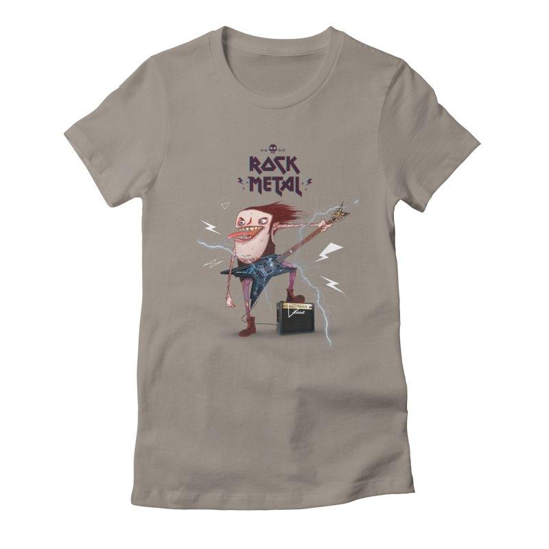 RockMetal! Women's Fitted T-Shirt by creativosindueno's Artist Shop