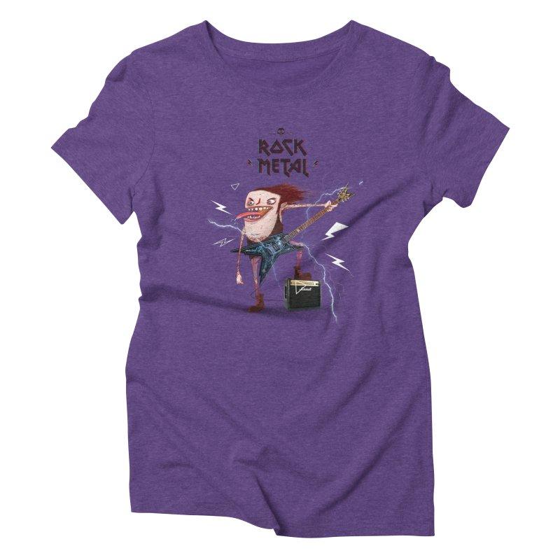 RockMetal! Women's Triblend T-Shirt by creativosindueno's Artist Shop