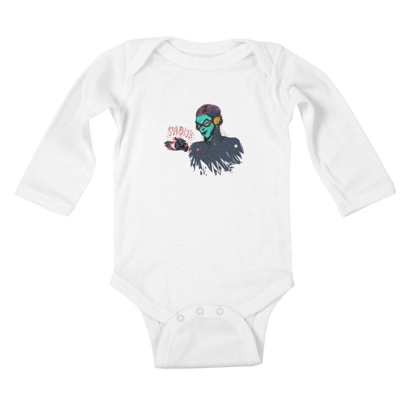 SoyDios! Kids Baby Longsleeve Bodysuit by creativosindueno's Artist Shop