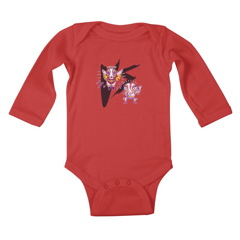Figthers Kids Baby Longsleeve Bodysuit by creativosindueno's Artist Shop