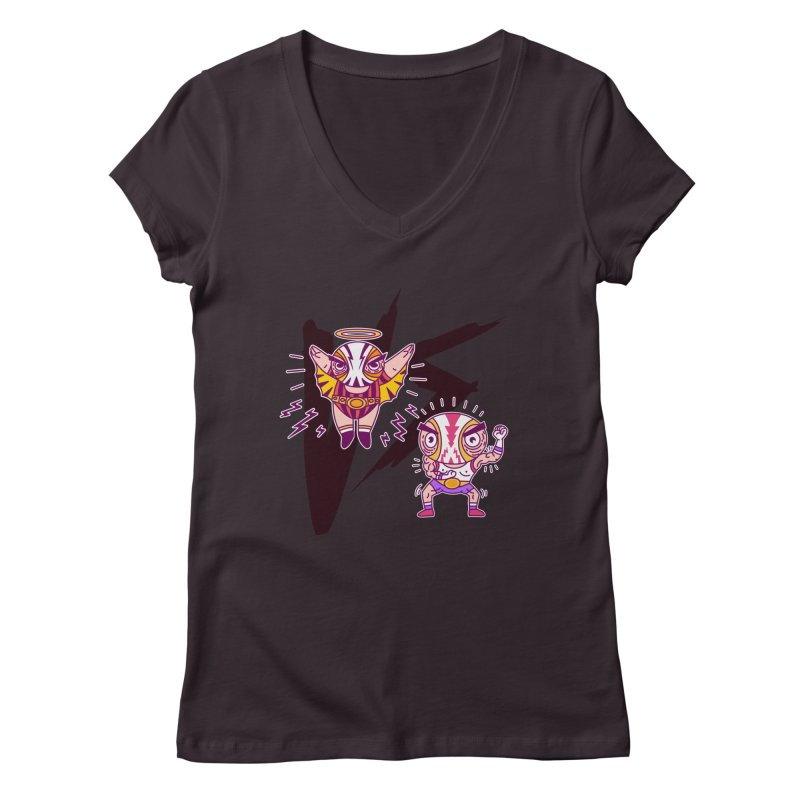 Figthers Women's V-Neck by creativosindueno's Artist Shop