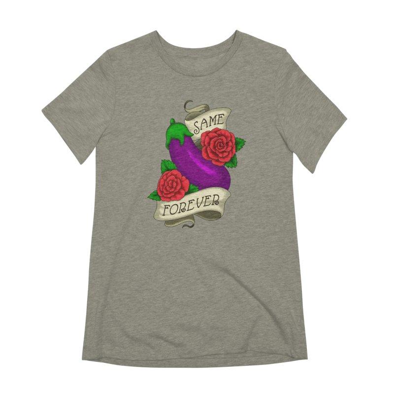 Aubergine Women's Extra Soft T-Shirt by Creaturista's Fine Goods