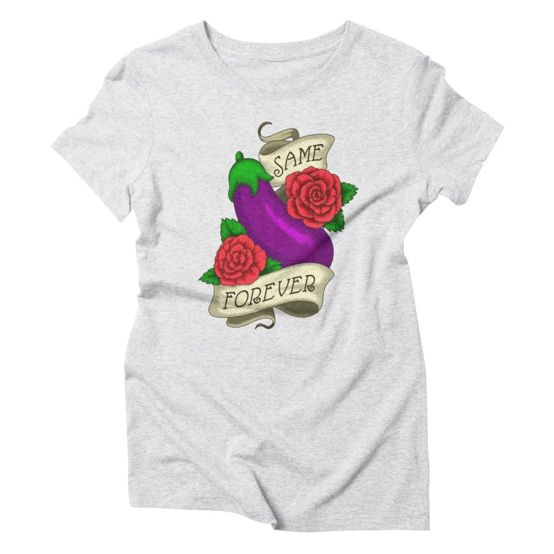 Aubergine Women's Triblend T-Shirt by Creaturista's Fine Goods
