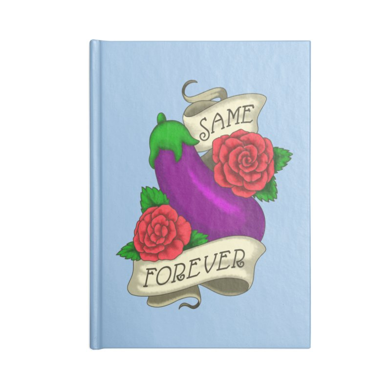 Aubergine Accessories Lined Journal Notebook by Creaturista's Fine Goods