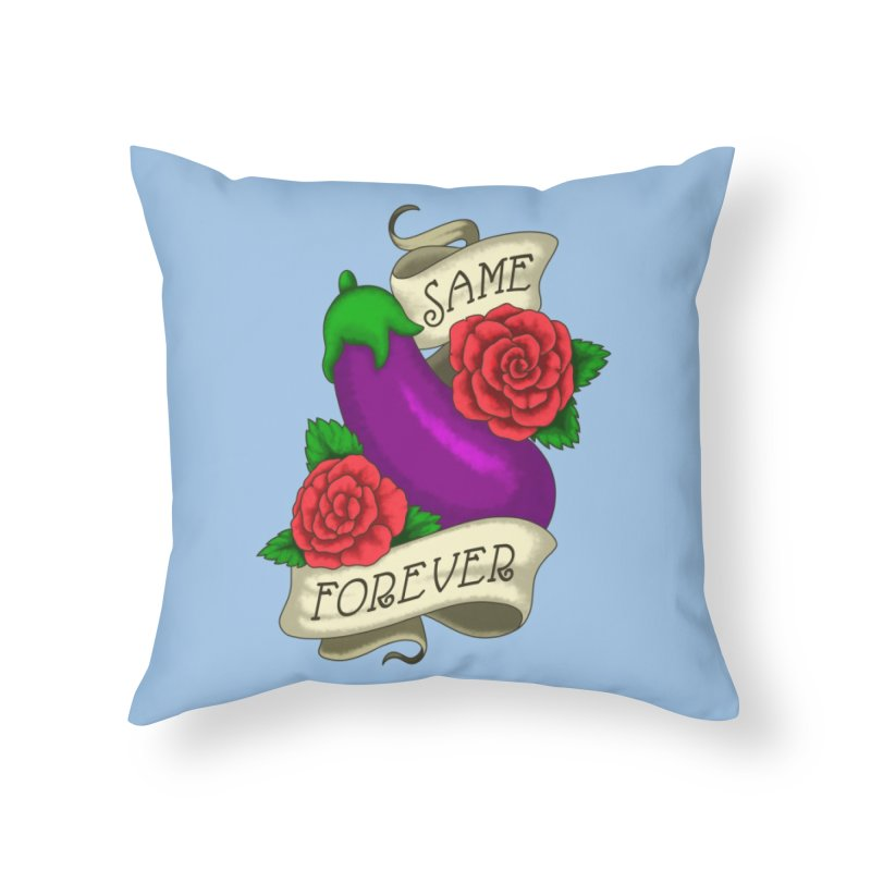 Aubergine Home Throw Pillow by Creaturista's Fine Goods