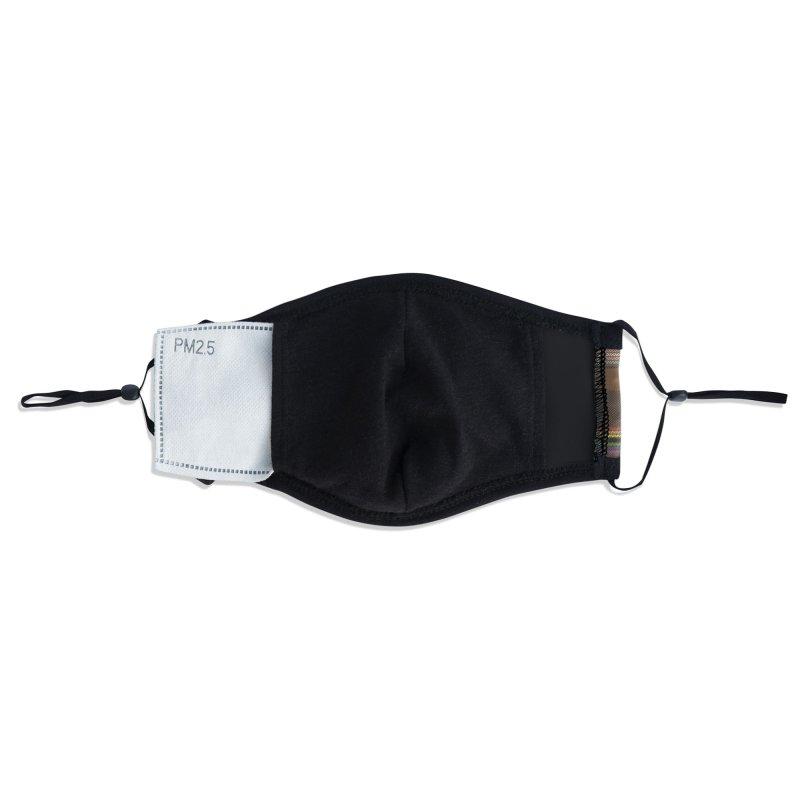Pinstripe Pride Plaid Accessories Face Mask by Creaturista's Fine Goods