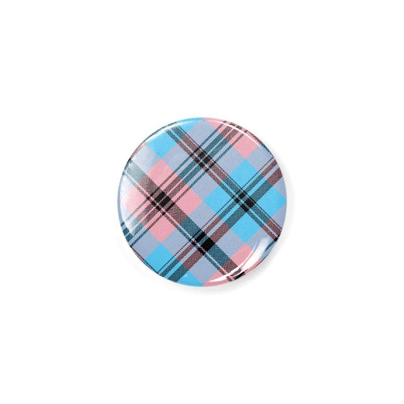 Black Trans Plaid - Buffalo Accessories Button by Creaturista's Fine Goods