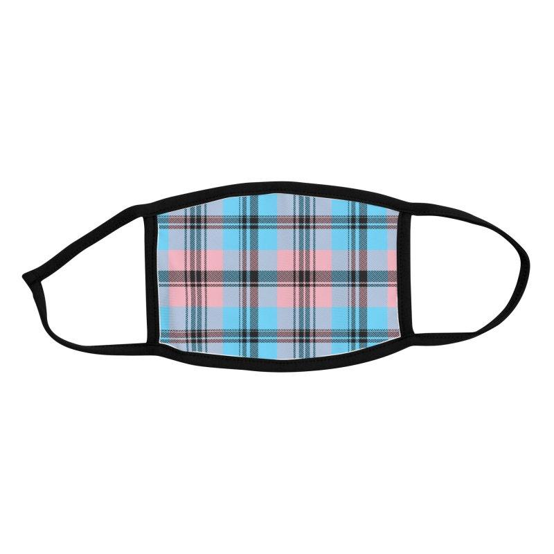 Black Trans Plaid - Buffalo Accessories Face Mask by Creaturista's Fine Goods