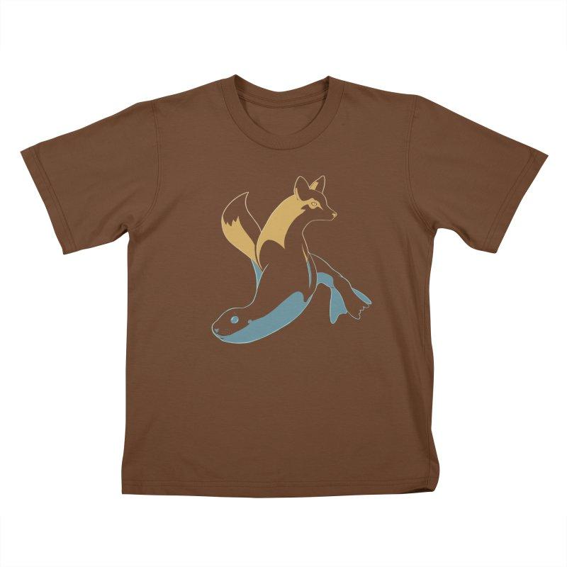 Best of Both Worlds Kids T-Shirt by Creaturista's Fine Goods