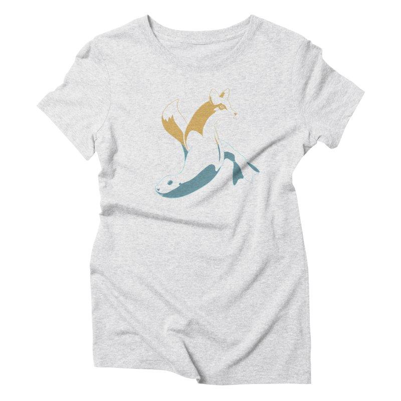 Best of Both Worlds Women's Triblend T-Shirt by Creaturista's Fine Goods