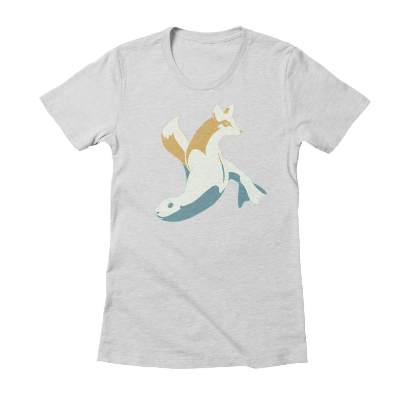 Best of Both Worlds HC Women's Fitted T-Shirt by Creaturista's Fine Goods