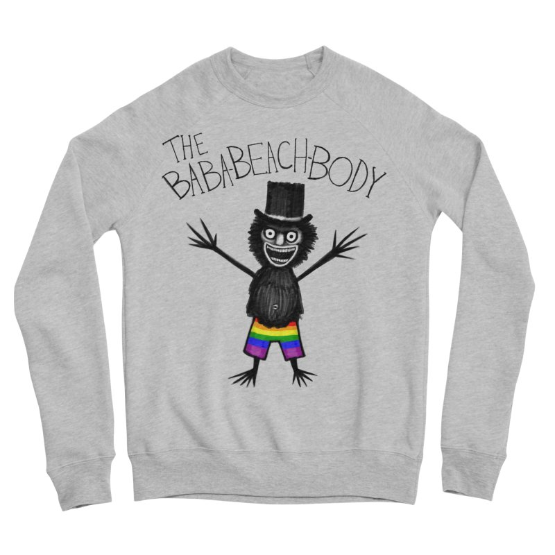 The Baba-Beach-Body Men's Sponge Fleece Sweatshirt by Creaturista's Fine Goods