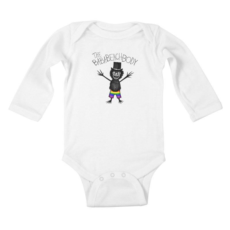 The Baba-Beach-Body Kids Baby Longsleeve Bodysuit by Creaturista's Fine Goods