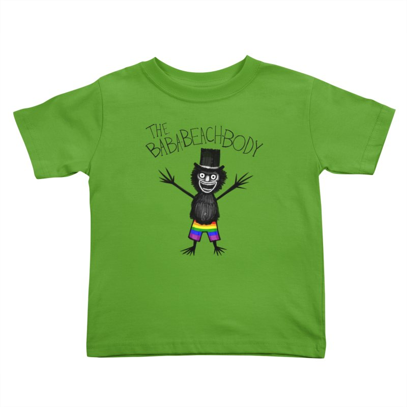 The Baba-Beach-Body Kids Toddler T-Shirt by Creaturista's Fine Goods