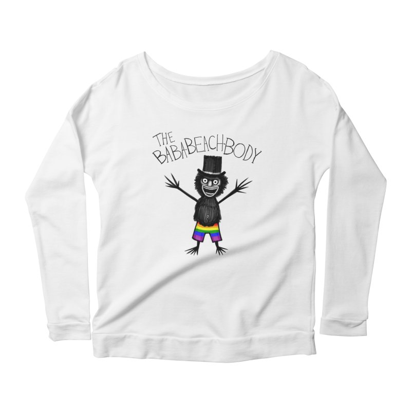 The Baba-Beach-Body Women's Scoop Neck Longsleeve T-Shirt by Creaturista's Fine Goods