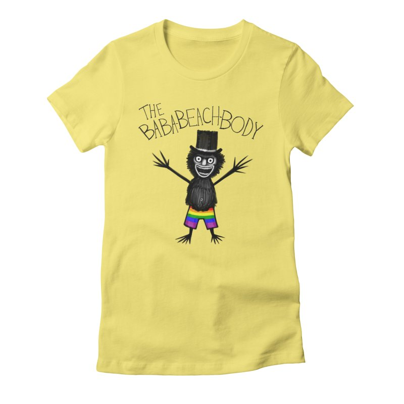 The Baba-Beach-Body Women's Fitted T-Shirt by Creaturista's Fine Goods