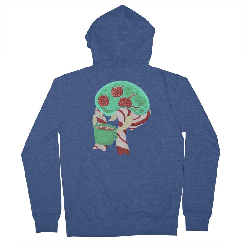 Feeling Festive Men's French Terry Zip-Up Hoody by Creaturista's Fine Goods