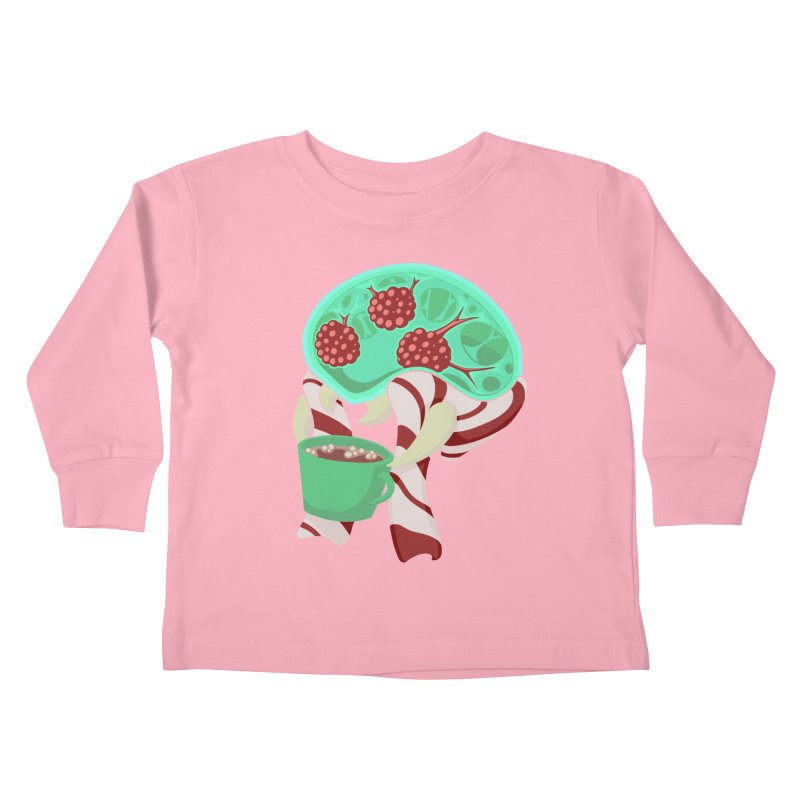 Feeling Festive Kids Toddler Longsleeve T-Shirt by Creaturista's Fine Goods