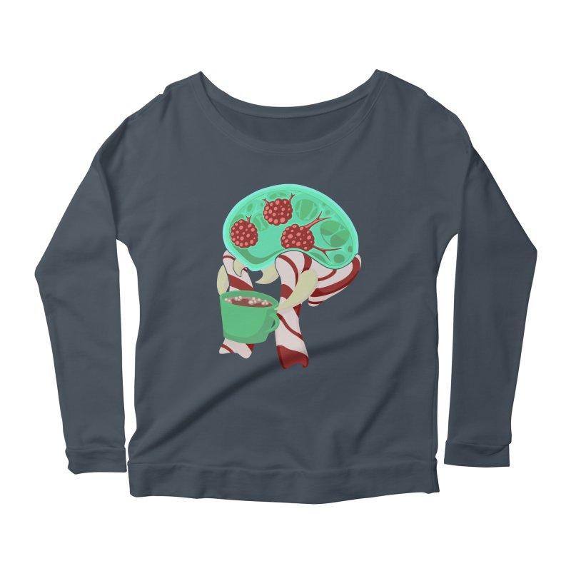Feeling Festive Women's Scoop Neck Longsleeve T-Shirt by Creaturista's Fine Goods