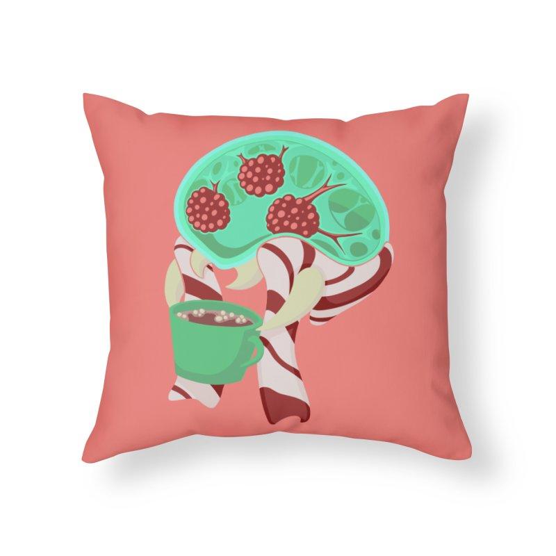 Feeling Festive Home Throw Pillow by Creaturista's Fine Goods