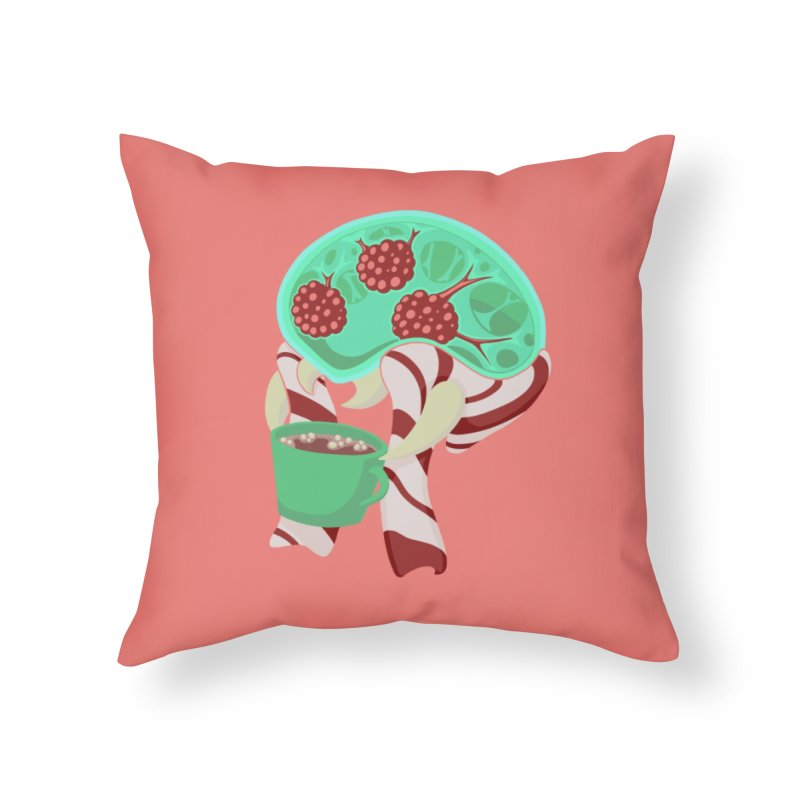Feeling Festive Home Throw Pillow by Creaturista's Fine Goods