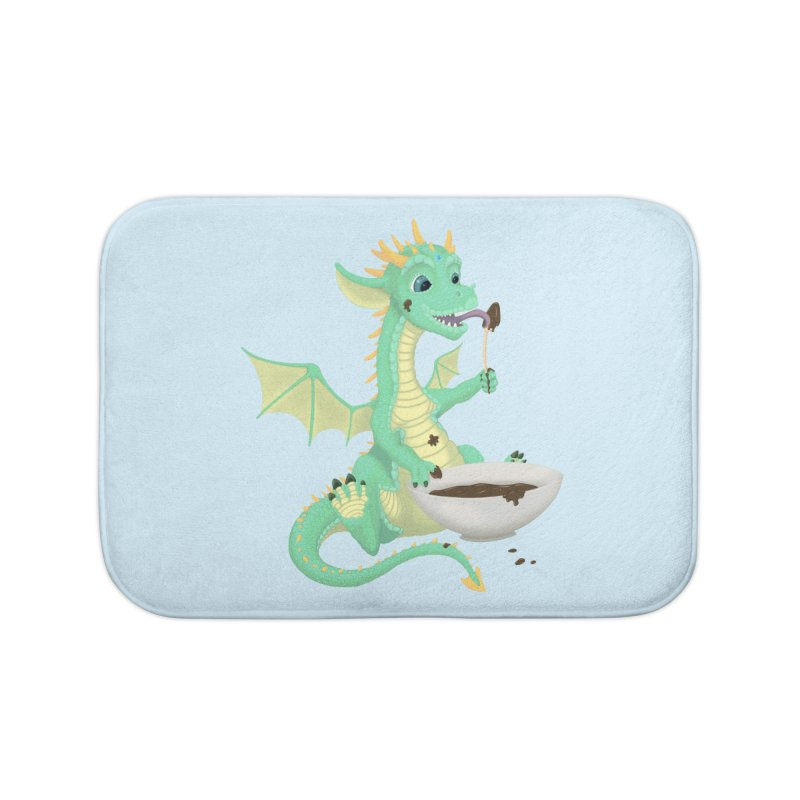 Helper Dragon Home Bath Mat by Creaturista's Fine Goods