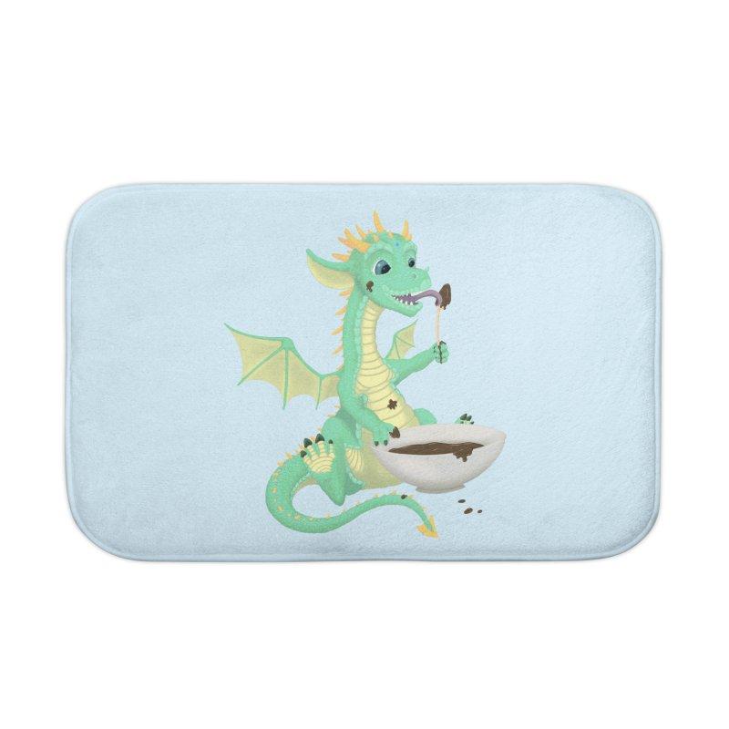 Helper Dragon Home Bath Mat by Creaturista's Fine Goods