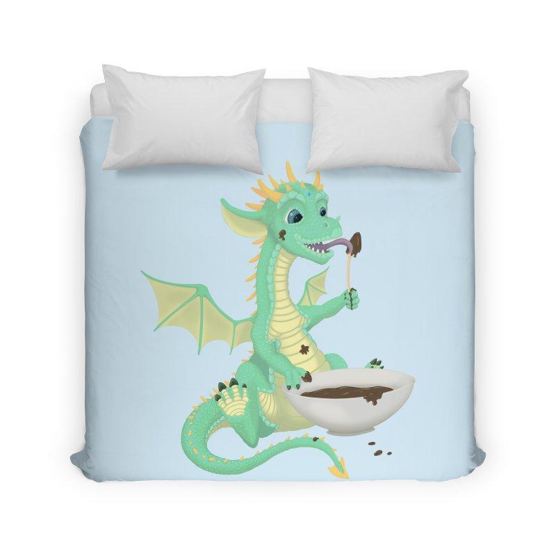 Helper Dragon Home Duvet by Creaturista's Fine Goods