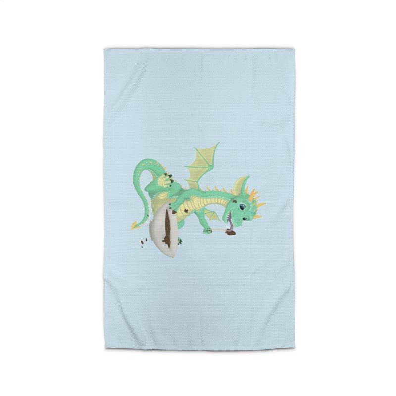 Helper Dragon Home Rug by Creaturista's Fine Goods