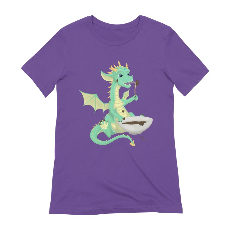 Helper Dragon Women's Extra Soft T-Shirt by Creaturista's Fine Goods