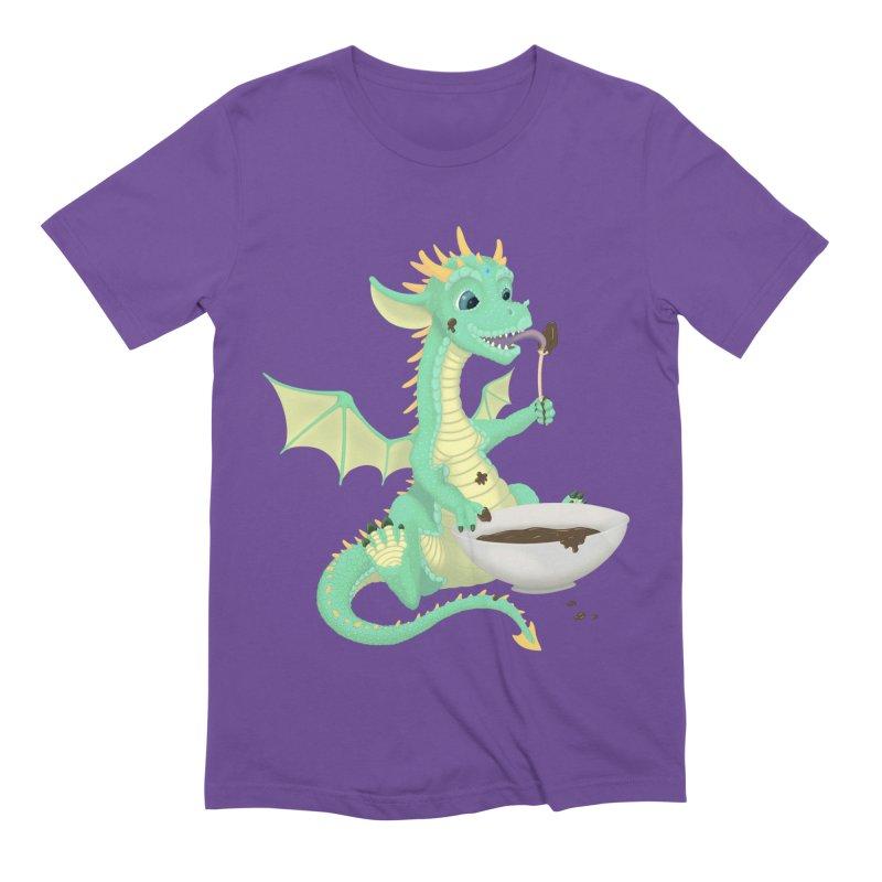 Helper Dragon Men's Extra Soft T-Shirt by Creaturista's Fine Goods