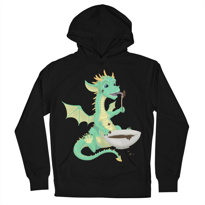 Helper Dragon Men's French Terry Pullover Hoody by Creaturista's Fine Goods
