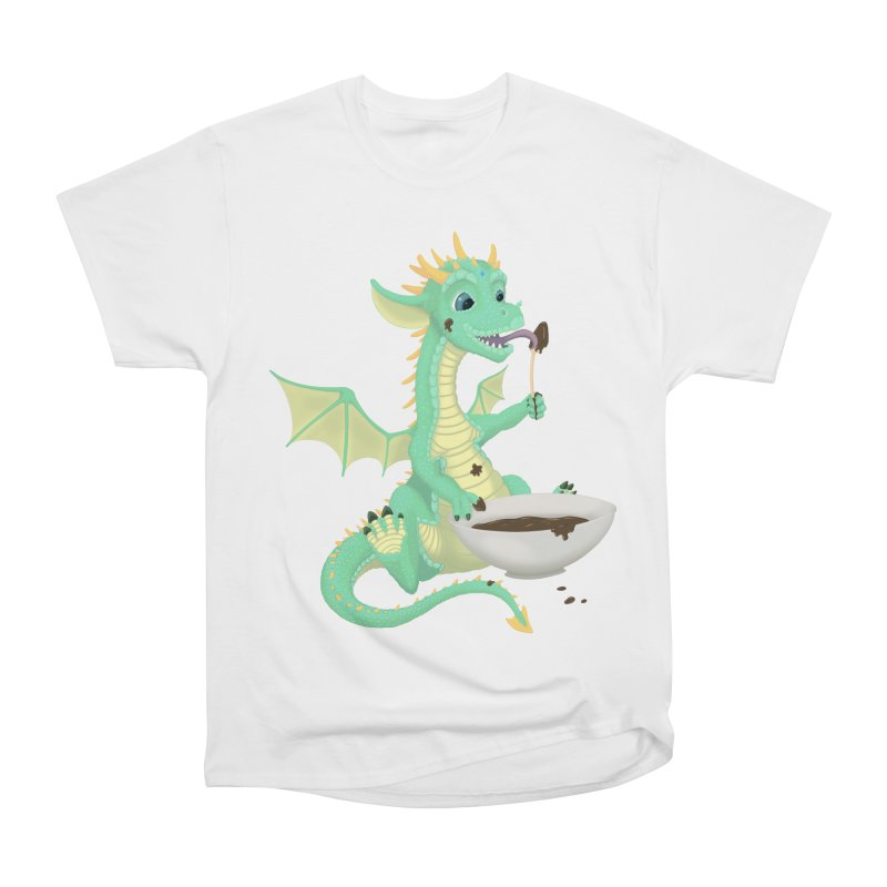 Helper Dragon Men's Heavyweight T-Shirt by Creaturista's Fine Goods