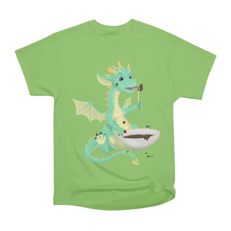 Helper Dragon Men's Heavyweight T-Shirt by Creaturista's Fine Goods