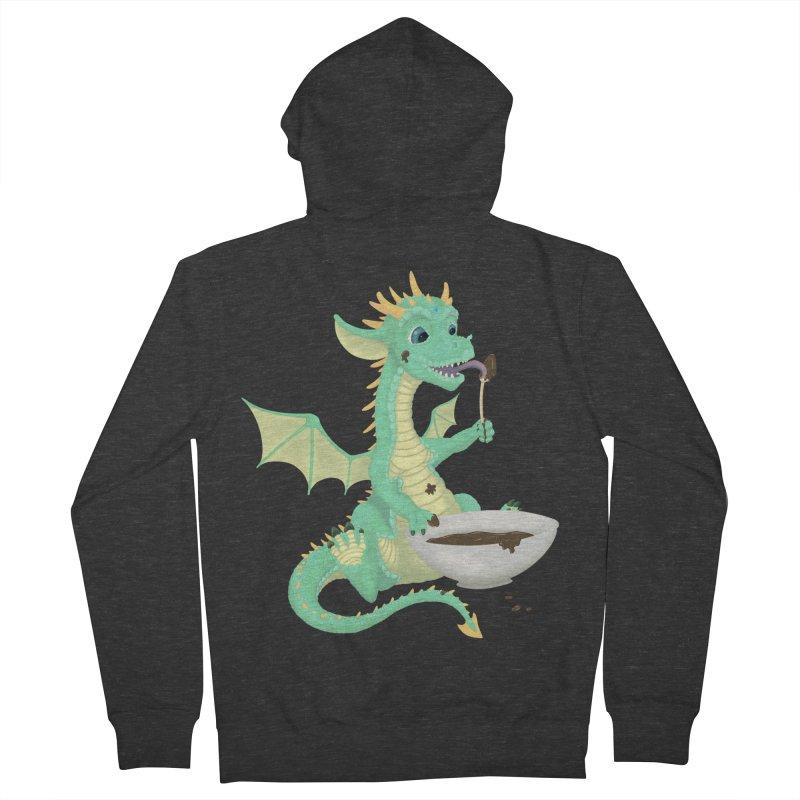 Helper Dragon Men's French Terry Zip-Up Hoody by Creaturista's Fine Goods