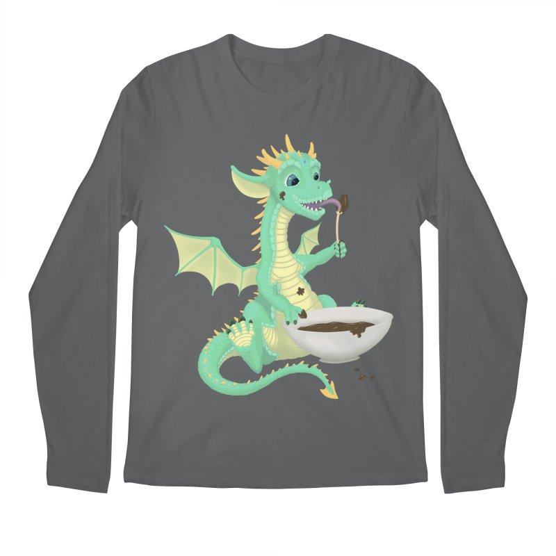 Helper Dragon Men's Regular Longsleeve T-Shirt by Creaturista's Fine Goods