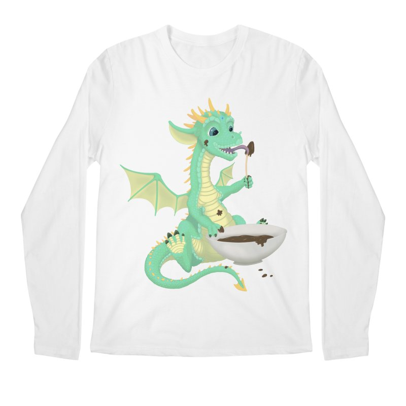 Helper Dragon Men's Regular Longsleeve T-Shirt by Creaturista's Fine Goods